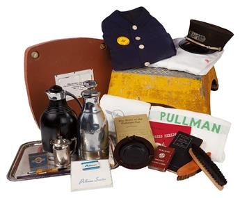 (TRAVEL.) PULLMAN PORTER COMPANY. An extraordinary collection of material relative to the Pullman Porter.