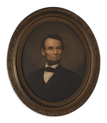 (PRINTS--SECOND TERM.) Middleton, Elijah C.; lithographer Two states of a popular portrait of Lincoln.