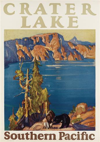 MAURICE LOGAN (1886-1977). CRATER LAKE / SOUTHERN PACIFIC. 1933. 22x16 inches, 57x40 cm.