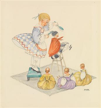 MELA KOEHLER-BROMAN. Stina and her dolls.
