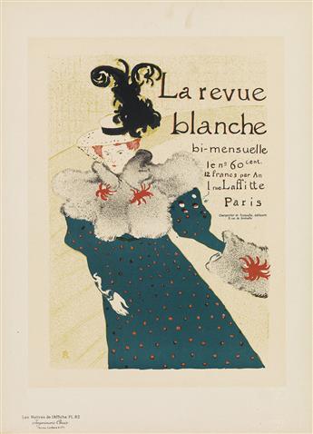 HENRI DE TOULOUSE-LAUTREC (1864-1901). LA REVUE BLANCHE. Maîtres de lAffiche pl. 82. 1897. 15x11 inches, 39x28 cm. Chaix, Paris.