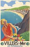 ROGER BRODERS (1883-1953). VILLERS S / MER. Circa 1933. 39x24 inches, 100x61 cm. Bedos, Paris.