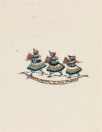 MELA KOEHLER-BROMAN. Three fair maidens.