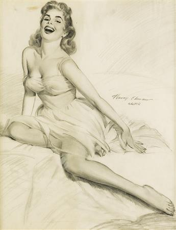 HARRY EKMAN. (PIN-UP) Divine Laughter.