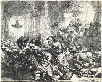 REMBRANDT VAN RIJN Christ Driving the Money Changers from the Temple.