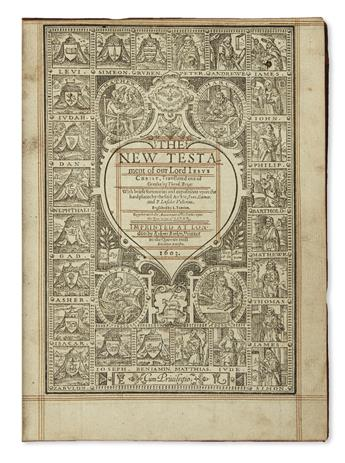 BIBLE IN ENGLISH.  The New Testament.  1603