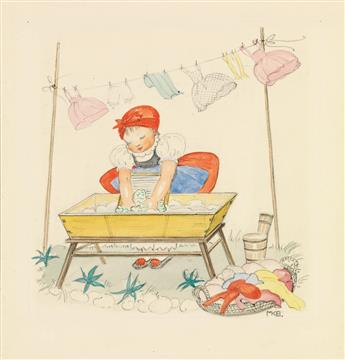 MELA KOEHLER-BROMAN. Stina does the wash.