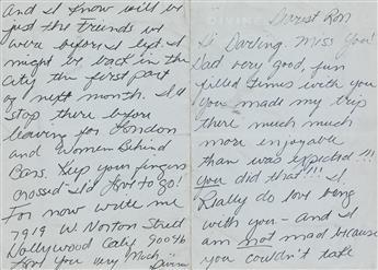 HARRIS GLENN MILSTEAD (DIVINE, 1945-1988)  Two Autograph Letters Signed, Divine, to Ron Taylor,