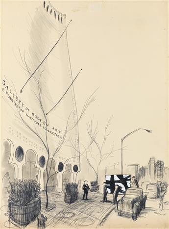 (THE NEW YORKER. ART. MUSEUM. FRANZ KLINE. MODERN ART.)  JAMES STEVENSON. Youve got the wrong address, Mac.