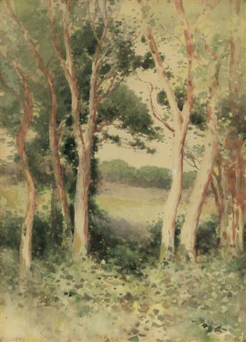 EDWARD PERCY MORAN Forest Clearing.