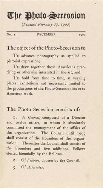 STIEGLITZ, ALFRED. The Photo-Secession. Numbers 1-6.