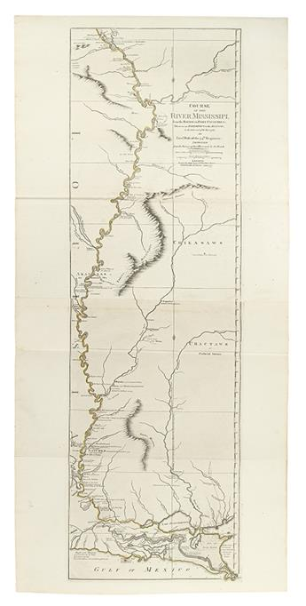 ROSS, JOHN. Course of the river Mississipi, from the Balise to Fort Chartres; taken on an Expedition.