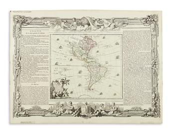(AMERICAS.) Group of three double-page engraved French maps of the Americas.