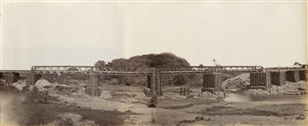 (INDIA & CEYLON) Shivshanker Narayen (active 1860s–90s) Album with 80 accomplished photographs depicting large-scale civic engineering