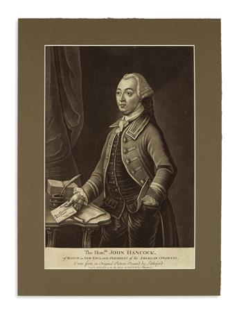 (AMERICAN REVOLUTION--1775.) The Honble. John Hancock, of Boston in New-England, President of the American Congress.