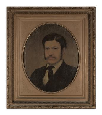 (PAINTINGS.) [Carpenter, Francis Bicknell; artist.] Portrait of Lincolns secretary William O. Stoddard.