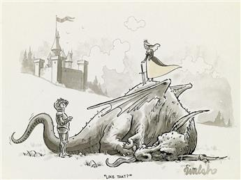 LIAM FRANCIS WALSH. (THE NEW YORKER / CARTOON / DRAGON) Like that?