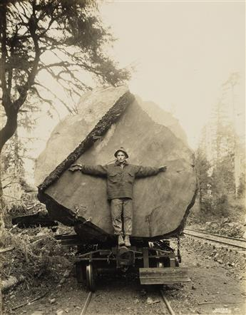 (CALIFORNIA & OREGON--LUMBER & LANDSCAPE) Thick album with 289 photographs made throughout the magnificent West Coast, comprising image