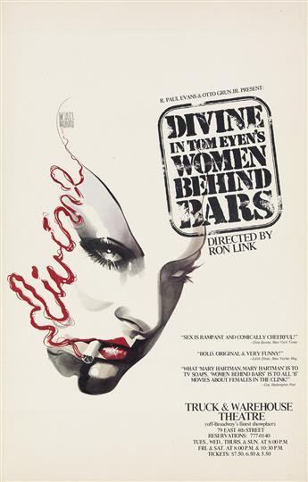 MICHAEL VOLLBRACHT (1947-2018)  Divine in Tom Eyens Women Behind Bars.