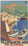 ROGER BRODERS (1883-1953). VILLEFRANCHE S / MER. Circa 1929. 39x24 inches, 100x62 cm. Lucien Serre, Paris.