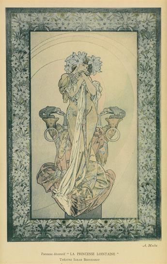 ALPHONSE MUCHA (1860-1939). LA PRINCESSE LOINTAINE / SARAH BERNHARDT. 1900. 10x6 inches, 25x16 cm.