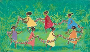 ELLIS WILSON (1899 - 1977) Haitian Children.