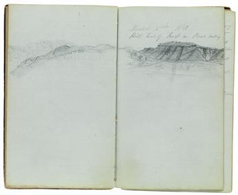 (TEXAS.) Smith, William Farrar. Manuscript diary of an expedition to blaze a trail from San Antonio to El Paso.