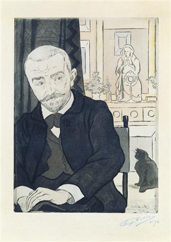 EUGÈNE DELÂTRE Portrait de Huysmans.