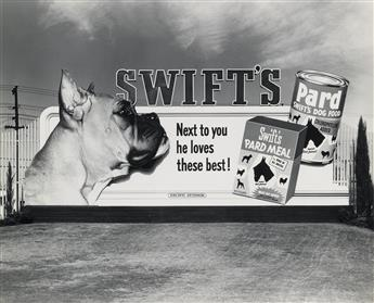 (PACIFIC OUTDOOR BILLBOARDS) Collection of 40 photographs chronicling the age of hyper-real and ultra-enticing advertising, displayed h
