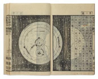 (JAPAN -- ASTRONOMY.) Yoshio, Nanko (Shuzo). Rigaku Nyuu Shiki Ensei Kanshou Zusetsu.