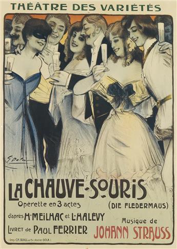 GEORGES DOLA (EDMOND VERNIER, 1872-1950). LA CHAUVE - SOURIS. 1904. 31x22 inches, 78x56 cm. Ch. Wall et Cie, [Paris.]