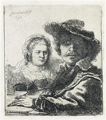 REMBRANDT VAN RIJN Self Portrait with Saskia.