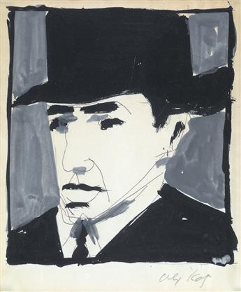 ALEX KATZ Self Portrait.