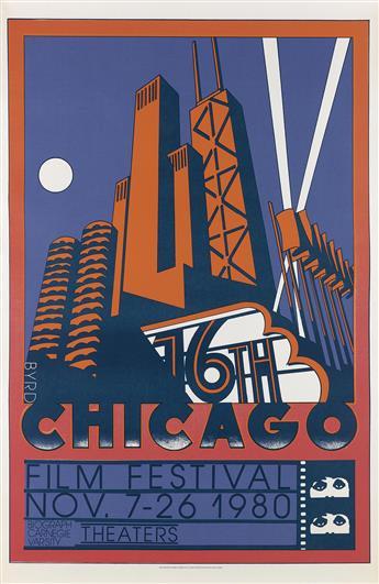 DAVID EDWARD BYRD (1941- ). CHICAGO FILM FESTIVAL. 1980. 59x39 inches, 151x99 cm.