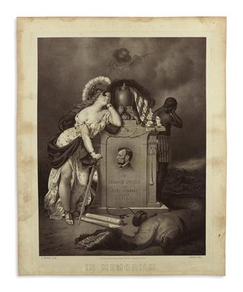 (PRINTS--MEMORIAL.) Nahl, C.; lithographer. To Abraham Lincoln, the Best Beloved of the Nation, in Memoriam.