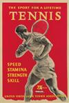 W.S. (DATES UNKNOWN). THE SPORT FOR A LIFETIME / TENNIS. 1956. 32x21 inches, 81x57 cm.