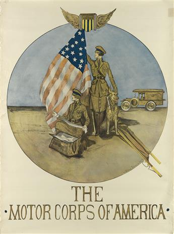 HÉLÈNE JONES (DATES UNKNOWN). THE MOTOR CORPS OF AMERICA. Circa 1918. 40x30 inches, 106x 76 cm.
