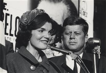 EDWARD WALLOWITCH (1932-1981)  Suite of 7 photographs taken during the John F. Kennedy presidential campaign.