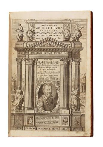 ARCHITECTURE  SCAMOZZI, VINCENZO. LIdea dellArchitettura Universale . . . Parte Prima [Seconda].  2 vols. in one.  1615