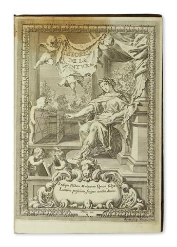 PALOMINO DE CASTRO Y VELASCO, ANTONIO. El Museo Pictórico y Escuela Óptica.  3 parts in 2 vols.  1795-97-96