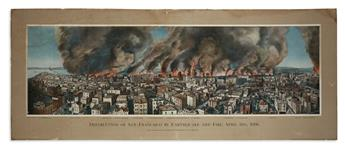 (SAN FRANCISCO.) Ficke, Francis. Destruction of San Francisco by Earthquake and Fire, April 18th, 1906.