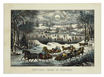 CURRIER & IVES. Central Park in Winter.