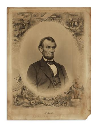 (PRINTS--SECOND TERM.) Buttre after Brady and Momberger. Abraham Lincoln, President of the United States.