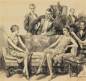 ARTHUR WILLIAM BROWN. 1920s parlor scene.