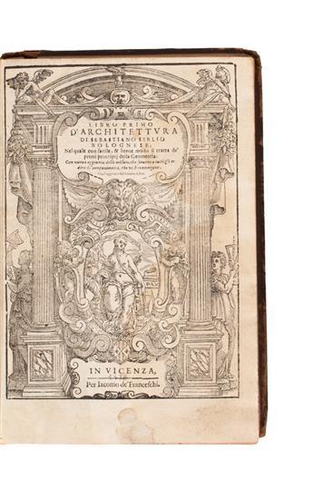 ARCHITECTURE  SERLIO, SEBASTIANO. Tutte lOpere dArchitettura, et Prospetiva.  1619.  Lacks the 25 preliminary leaves.