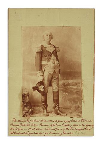 (WASHINGTON, GEORGE.) Photograph of Washingtons great-grandnephew and look-alike, the Oregon Indian fighter Ebenezer Burgess Ball.