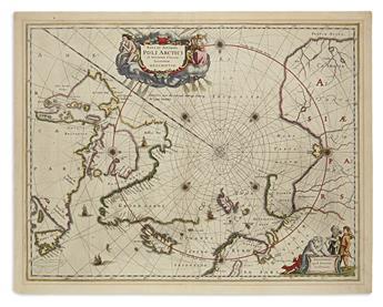 JANSSONIUS, JOHANNES. Nova et Accurata Poli Arctici et Terrarum Circum Iacentium Descriptio.