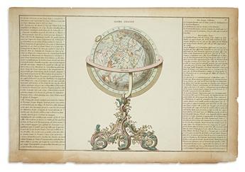 (GLOBES.) Martinet, Francois Nicolas (engraver). Globe Celeste / Introduction a la Geographie.