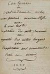 NOSTRADAMUS, MICHEL DE.  1820  Centuries de Nostradamus mises en vers français nouveau style [etc.].  Manuscript.
