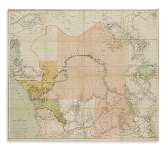 (AFRICA.) Stanley, Henry M. Karte des Kongobeckens und der Angrenzenden Gebiete, Zugleich Darstellung der Ausdehnung des Kongostaates.